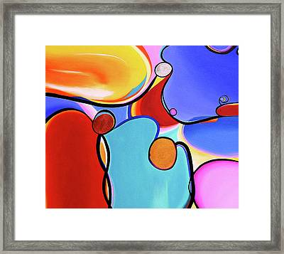 Curvaceous Abstract Framed Print by Rayanda Arts
