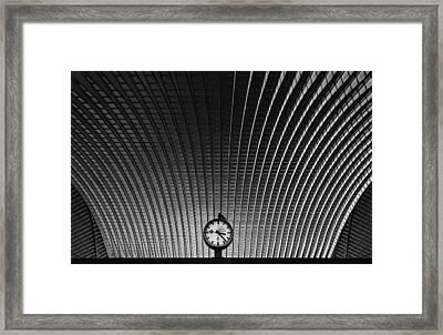 Curvature Of Spacetime Framed Print by Rainer Inderst