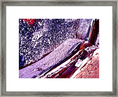 Curved Abstract Framed Print by Chuck Taylor