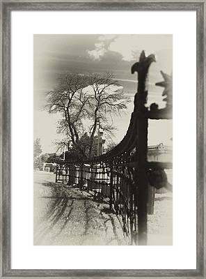 Curved Gate Framed Print