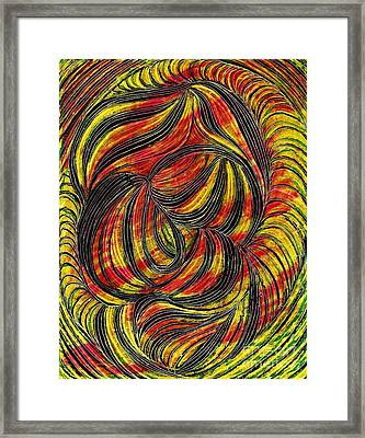Curved Lines 2 Framed Print by Sarah Loft