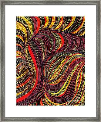 Curved Lines 3 Framed Print by Sarah Loft