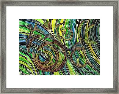 Curved Lines 4 Framed Print by Sarah Loft