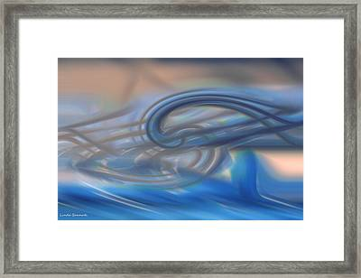 Curved Lines Framed Print by Linda Sannuti