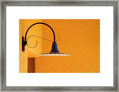 Curved Outdoor Light Bright Yellow Wall Framed Print