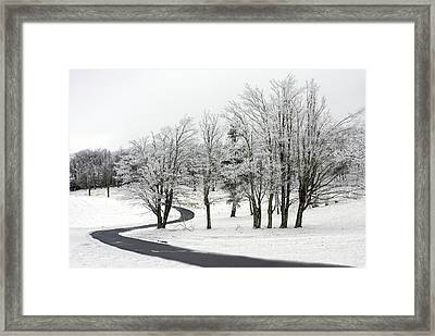 Mac Rae Field Curved Path Framed Print