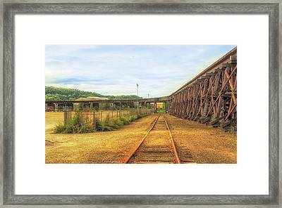 Curved Railroad Bridge Framed Print by Eclectic Art Photos