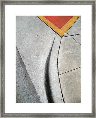 Red Triangle Framed Print