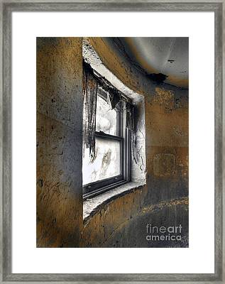Curved Wall Window Framed Print by Norman  Andrus