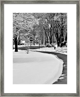 Curved Framed Print by Wild Thing