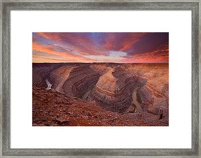 Curves Ahead Framed Print by Mike  Dawson