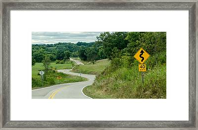 Curves Framed Print