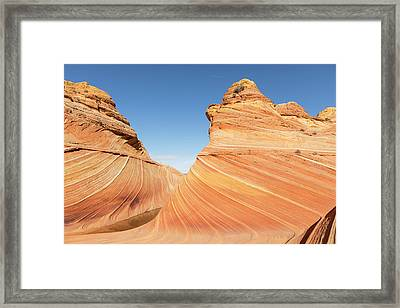 Curves In The Wave Framed Print