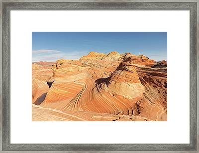 Curves Into Waves Framed Print by Tim Grams