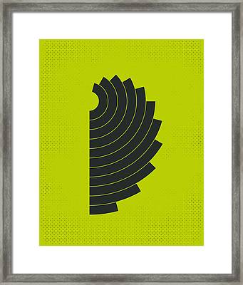 Curves Framed Print by Jazzberry Blue