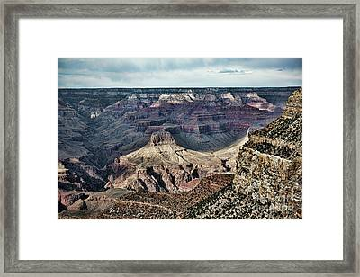 Curves Of Grand Canyon  Framed Print by Chuck Kuhn