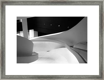 Curves Of Light Framed Print