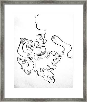 Curving Faces Framed Print by Kate Dingwall