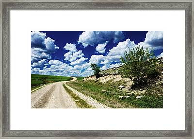 Curving Gravel Road Framed Print
