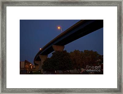 Curvy Bayview Evening -luther Fine Art Framed Print by Luther Fine Art