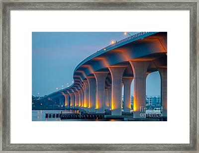Curvy Bridge Framed Print