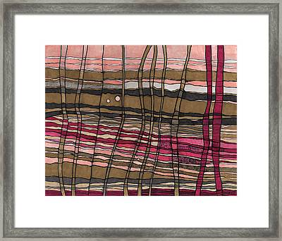 Stalks At Sunset Framed Print