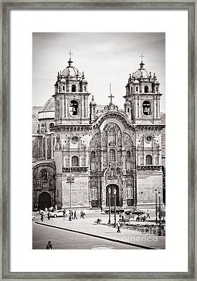 Cusco Cathedral Framed Print by Darcy Michaelchuk