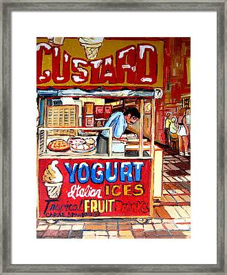 Custard Cart Framed Print by Carole Spandau