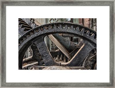 Custer Dredge Gears 2 Framed Print by Leland D Howard