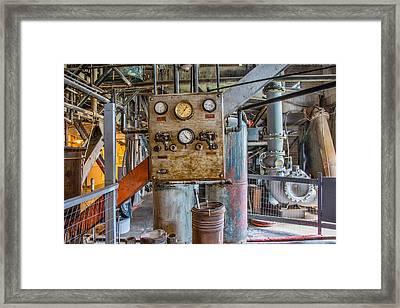 Custer Dredge Interior Framed Print by Leland D Howard