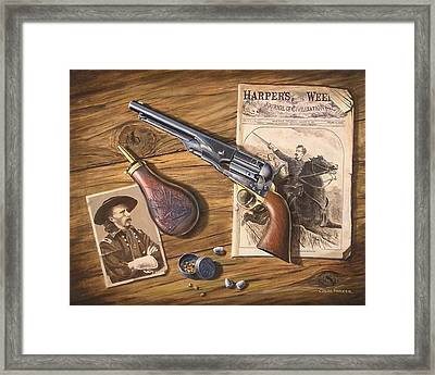 'custer's Colt' Framed Print