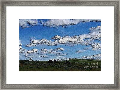 Framed Print featuring the photograph Custer's Horses 1 by Erica Hanel