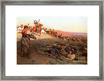 Custer's Last Stand Framed Print by Richard Lorenz