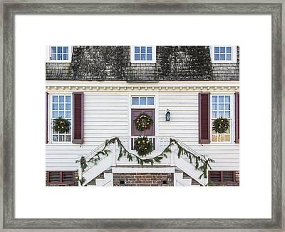 Custis Tenement Williamsburg Framed Print by Teresa Mucha