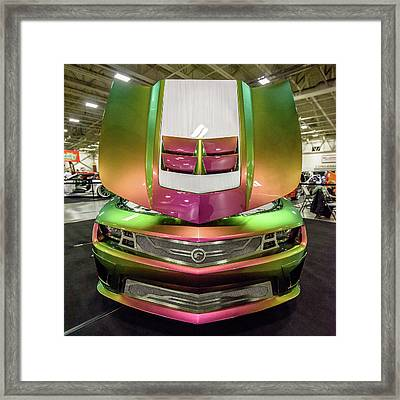 Custom Camaro Framed Print by Randy Scherkenbach