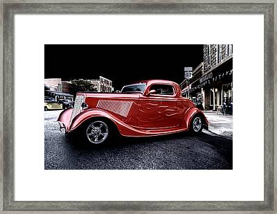 Custom Car On Street Framed Print