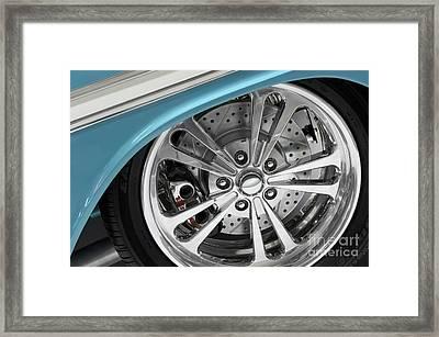 Custom Car Wheel Framed Print by Oleksiy Maksymenko