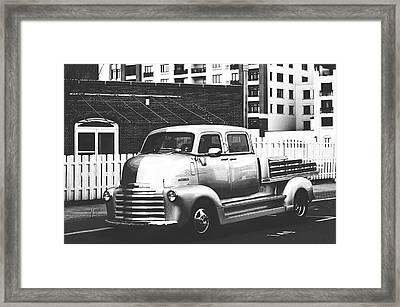 Custom Chevy Asbury Park Nj Black And White Framed Print