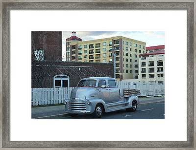Framed Print featuring the photograph Custom Chevy Asbury Park Nj by Terry DeLuco