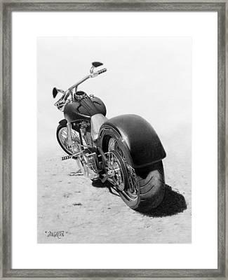 Custom Chopper Framed Print by Tim Dangaran