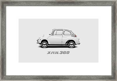 Custom Color 1970 Subaru 360 Framed Print by Ed Jackson