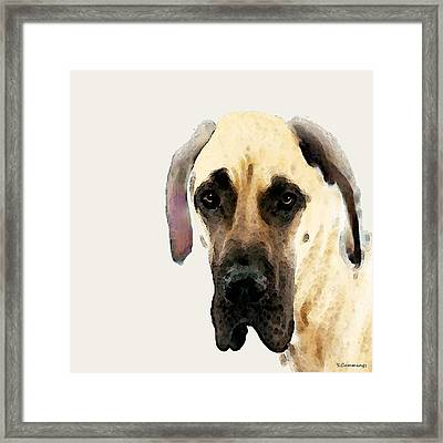 Custom Great Dane Art Framed Print by Sharon Cummings
