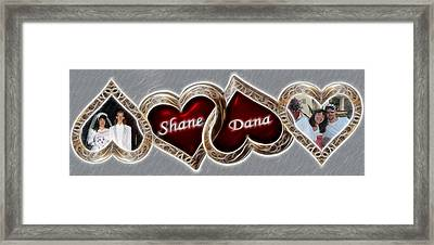 Custom Hearts Framed Print by Shane Bechler