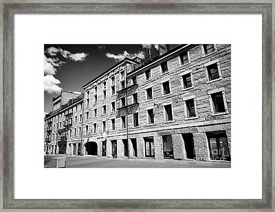 custom house block long wharf Boston USA Framed Print