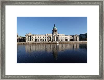Custom House Dublin Ireland Framed Print