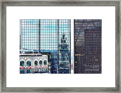 Custom House Reflection Framed Print