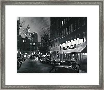 Custom House View Boston Framed Print