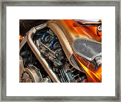 Custom Motorcycle Framed Print