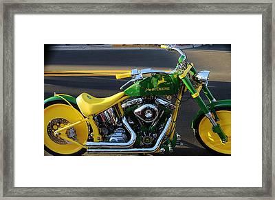 Custom Motorcycle Framed Print
