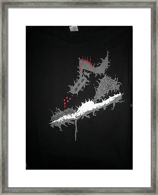 Custom Painted Jordan Cement 5 Tee Framed Print by Joseph Boyd